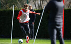 SOUTHAMPTON, ENGLAND - MARCH 13: Sam Gallagher (left) during a Southampton FC training session at Staplewood Complex on March 13, 2019 in Southampton, England. (Photo by James Bridle - Southampton FC/Southampton FC via Getty Images)