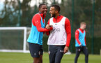 SOUTHAMPTON, ENGLAND - MARCH 13: LtoR Kayne Ramsay, Ryan Bertrand during a Southampton FC training session at Staplewood Complex on March 13, 2019 in Southampton, England. (Photo by James Bridle - Southampton FC/Southampton FC via Getty Images)