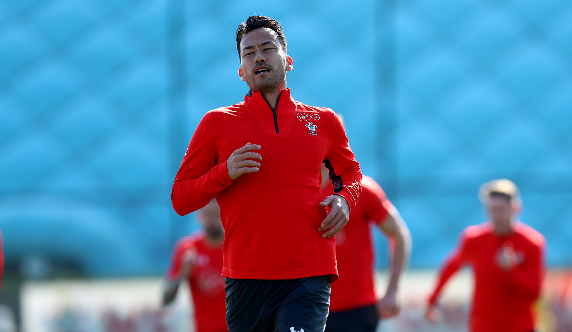 SOUTHAMPTON, ENGLAND - MARCH 27: Maya Yoshida during a Southampton FC training session at the Staplewood Campus on March 27, 2019 in Southampton, England. (Photo by Matt Watson/Southampton FC via Getty Images)