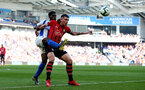 BRIGHTON, ENGLAND - MARCH 30: Pierre-Emile Hojbjerg(R) of Southampton and Yves Bissouma of Brighton & Hove Albion during the Premier League match between Brighton & Hove Albion and Southampton FC at American Express Community Stadium on March 30, 2019 in Brighton, United Kingdom. (Photo by Matt Watson/Southampton FC via Getty Images)
