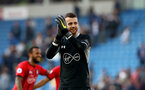 BRIGHTON, ENGLAND - MARCH 30: Angus Gunn of Southampton during the Premier League match between Brighton & Hove Albion and Southampton FC at American Express Community Stadium on March 30, 2019 in Brighton, United Kingdom. (Photo by Matt Watson/Southampton FC via Getty Images)