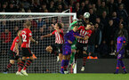 SOUTHAMPTON, ENGLAND - APRIL 05:  Angus Gunn punches clear during the Premier League match between Southampton FC and Liverpool FC at St Mary's Stadium on April 5th, 2019 in Southampton, United Kingdom. (Photo by Chris Moorhouse/Southampton FC via Getty Images)