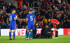 SOUTHAMPTON, ENGLAND - APRIL 10: Will Smallbone looks over his team mate Nathan Tella after being injured during the International PL Cup match between Southampton FC and Dinamo Zagreb, pictured at St. Mary's Stadium on April 10, 2019 in Southampton, England. (Photo by James Bridle - Southampton FC/Southampton FC via Getty Images) (Photo by James Bridle - Southampton FC/Southampton FC via Getty Images)