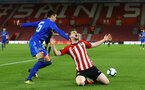 SOUTHAMPTON, ENGLAND - APRIL 10: Will Ferry goes down (right) during the International PL Cup match between Southampton FC and Dinamo Zagreb, pictured at St. Mary's Stadium on April 10, 2019 in Southampton, England. (Photo by James Bridle - Southampton FC/Southampton FC via Getty Images) (Photo by James Bridle - Southampton FC/Southampton FC via Getty Images)