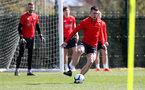 SOUTHAMPTON, ENGLAND - APRIL 11: Pierre-Emile Hojbjerg during a Southampton FC training session at the Staplewood Campus on April 11, 2019 in Southampton, England. (Photo by Matt Watson/Southampton FC via Getty Images)