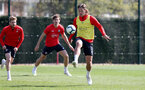 SOUTHAMPTON, ENGLAND - APRIL 11: Jannik Vestergaard during a Southampton FC training session at the Staplewood Campus on April 11, 2019 in Southampton, England. (Photo by Matt Watson/Southampton FC via Getty Images)
