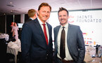 SOUTHAMPTON, ENGLAND - APRIL 12: Ralph Hasenhuttl  (left) during the Southampton FC Foundation Charity Dinner pictured at St Marys Stadium on April 12, 2019 in Southampton, England. (Photo by James Bridle - Southampton FC/Southampton FC via Getty Images)