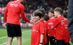 SOUTHAMPTON, ENGLAND - APRIL 13: Saints Foundation mascots during the Premier League match between Southampton FC and Wolverhampton Wanderers at St Mary's Stadium on April 13, 2019 in Southampton, United Kingdom. (Photo by Matt Watson/Southampton FC via Getty Images)