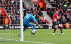 SOUTHAMPTON, ENGLAND - APRIL 13: Shane Long of Southampton scores his teams third goal during the Premier League match between Southampton FC and Wolverhampton Wanderers at St Mary's Stadium on April 13, 2019 in Southampton, United Kingdom. (Photo by Matt Watson/Southampton FC via Getty Images)