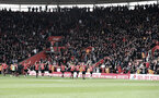 SOUTHAMPTON, ENGLAND - APRIL 13: Southampton players celebrate in front of their fans during the Premier League match between Southampton FC and Wolverhampton Wanderers at St Mary's Stadium on April 13, 2019 in Southampton, United Kingdom. (Photo by Matt Watson/Southampton FC via Getty Images)