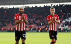 SOUTHAMPTON, ENGLAND - APRIL 13: Nathan Redmond(L) and James Ward-Prowse of Southampton during the Premier League match between Southampton FC and Wolverhampton Wanderers at St Mary's Stadium on April 13, 2019 in Southampton, United Kingdom. (Photo by Matt Watson/Southampton FC via Getty Images)