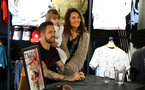 SOUTHAMPTON, ENGLAND - APRIL 15: Danny Ings of Southampton FC meet and greet pictured for the launch of his new clothing brand inside the Mega Store at St Marys Stadium on April 15, 2019 in Southampton, England. (Photo by James Bridle - Southampton FC/Southampton FC via Getty Images)