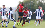 WEST BROMWICH, ENGLAND - APRIL 18: Tyreke Johnson during the Under 23s PL2 match between West Bromwich and Southampton FC pictured on April 18, 2019 in West Bromwich, England. (Photo by James Bridle - Southampton FC/Southampton FC via Getty Images)