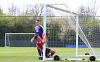 WEST BROMWICH, ENGLAND - APRIL 18: Tom O'Connor catches the post as the ball goes wide of goal during the Under 23s PL2 match between West Bromwich and Southampton FC pictured on April 18, 2019 in West Bromwich, England. (Photo by James Bridle - Southampton FC/Southampton FC via Getty Images)