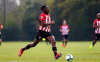 WEST BROMWICH, ENGLAND - APRIL 18: Dan Nlundulu of Southampton during the Under 23s PL2 match between West Bromwich and Southampton FC pictured on April 18, 2019 in West Bromwich, England. (Photo by James Bridle - Southampton FC/Southampton FC via Getty Images)