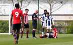 WEST BROMWICH, ENGLAND - APRIL 18: Will Ferry of Southampton goes down during the Under 23s PL2 match between West Bromwich and Southampton FC pictured on April 18, 2019 in West Bromwich, England. (Photo by James Bridle - Southampton FC/Southampton FC via Getty Images)