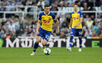 NEWCASTLE UPON TYNE, ENGLAND - APRIL 20: Pierre-Emile Hojbjerg of Southampton during the Premier League match between Newcastle United and Southampton FC at St. James Park on April 20, 2019 in Newcastle upon Tyne, United Kingdom. (Photo by Matt Watson/Southampton FC via Getty Images)