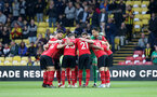 WATFORD, ENGLAND - APRIL 23: Southampton players huddle during the Premier League match between Watford FC and Southampton FC at Vicarage Road on April 23, 2019 in Watford, United Kingdom. (Photo by Matt Watson/Southampton FC via Getty Images)