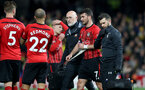WATFORD, ENGLAND - APRIL 23: Shane Long of Southampton picks up an injury during the Premier League match between Watford FC and Southampton FC at Vicarage Road on April 23, 2019 in Watford, United Kingdom. (Photo by Matt Watson/Southampton FC via Getty Images)