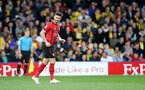 WATFORD, ENGLAND - APRIL 23: Shane Long of Southampton celebrates during the Premier League match between Watford FC and Southampton FC at Vicarage Road on April 23, 2019 in Watford, United Kingdom. (Photo by Matt Watson/Southampton FC via Getty Images)