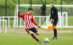 NORWICH, ENGLAND - APRIL 27: James Morris  during a U18 Premier League match between Norwich City FC and Southampton FC pictured at Colney Training Ground on April 27, 2019 in Norwich, England. (Photo by James Bridle - Southampton FC/Southampton FC via Getty Images)