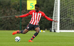 NORWICH, ENGLAND - APRIL 27: David Agbonohoma during a U18 Premier League match between Norwich City FC and Southampton FC pictured at Colney Training Ground on April 27, 2019 in Norwich, England. (Photo by James Bridle - Southampton FC/Southampton FC via Getty Images)