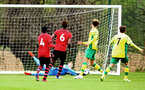 NORWICH, ENGLAND - APRIL 27: Jack Bycroft makes a save for Southampton FC  during a U18 Premier League match between Norwich City FC and Southampton FC pictured at Colney Training Ground on April 27, 2019 in Norwich, England. (Photo by James Bridle - Southampton FC/Southampton FC via Getty Images)