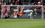 SOUTHAMPTON, ENGLAND - APRIL 27: Bournemouth score during the Premier League match between Southampton FC and AFC Bournemouth at St Mary's Stadium on April 27, 2019 in Southampton, United Kingdom. (Photo by Matt Watson/Southampton FC via Getty Images)