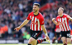 SOUTHAMPTON, ENGLAND - APRIL 27: Shane Long's goal celebration during the Premier League match between Southampton FC and AFC Bournemouth at St Mary's Stadium on April 27, 2019 in Southampton, United Kingdom. (Photo by Chris Moorhouse/Southampton FC via Getty Images)