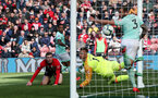 SOUTHAMPTON, ENGLAND - APRIL 27: Matt Targett scores during the Premier League match between Southampton FC and AFC Bournemouth at St Mary's Stadium on April 27, 2019 in Southampton, United Kingdom. (Photo by Chris Moorhouse/Southampton FC via Getty Images)