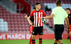 SOUTHAMPTON, ENGLAND - APRIL 29: Will Smallbone takes a penalty for Southampton FC during the Premier League 2 match between Southampton FC and Sunderland pictured at St Mary's Stadium on April 29, 2019 in Southampton, England. (Photo by James Bridle - Southampton FC/Southampton FC via Getty Images)