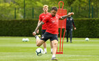 SOUTHAMPTON, ENGLAND - MAY 02:  Danny Ings shoots (middle)  during a Southampton FC training session pictured at Staplewood Complex on May 2, 2019 in Southampton, England. (Photo by James Bridle - Southampton FC/Southampton FC via Getty Images)