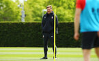SOUTHAMPTON, ENGLAND - MAY 02:  Ralph Hasenhuttl (left) during a Southampton FC training session pictured at Staplewood Complex on May 2, 2019 in Southampton, England. (Photo by James Bridle - Southampton FC/Southampton FC via Getty Images)