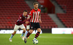 SOUTHAMPTON, ENGLAND - MAY 03: Callum Slattery (right) during the U23s PL2 Play off Semi-Final between Southampton FC and Aston Villa FC pictured at St Mary's Stadium on May 03, 2019 in Southampton, England. (Photo by James Bridle - Southampton FC/Southampton FC via Getty Images)