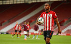 SOUTHAMPTON, ENGLAND - MAY 03: Tyreke Johnson walks to take a corner kick (right) during the U23s PL2 Play off Semi-Final between Southampton FC and Aston Villa FC pictured at St Mary's Stadium on May 03, 2019 in Southampton, England. (Photo by James Bridle - Southampton FC/Southampton FC via Getty Images)