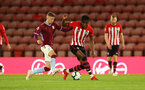 SOUTHAMPTON, ENGLAND - MAY 03: Dan Nlundulu  (right) during the U23s PL2 Play off Semi-Final between Southampton FC and Aston Villa FC pictured at St Mary's Stadium on May 03, 2019 in Southampton, England. (Photo by James Bridle - Southampton FC/Southampton FC via Getty Images)