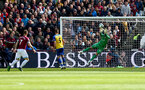 LONDON, ENGLAND - MAY 04: Fraser Forster of Southampton saves during the Premier League match between West Ham United and Southampton FC at the London Stadium on May 04, 2019 in London, United Kingdom. (Photo by Matt Watson/Southampton FC via Getty Images)