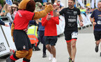 Francis Benali's IronFran challenge for Cancer Research UK. Franny finishes the Southampton Marathon