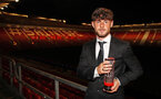 Will Ferry with his award for Academy Young Player of the Year during the 2018/19 Southampton FC Player Awards night, at St Mary's Stadium, Southampton, 7th May 2019