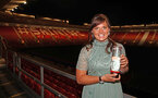 Shannon Sievwright with her Women's Player of the Year award during the 2018/19 Southampton FC Player Awards night, at St Mary's Stadium, Southampton, 7th May 2019