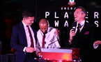 Pierre-Emile Hojbjerg and Nathan Redmond during the 2018/19 Southampton FC Player Awards night, at St Mary's Stadium, Southampton, 7th May 2019