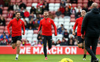 SOUTHAMPTON, ENGLAND - MAY 08: L to R Danny Ings, Shane Long and Oriol Romeu during a Southampton FC open training session at St Mary's Stadium on May 08, 2019 in Southampton, England. (Photo by Matt Watson/Southampton FC via Getty Images)