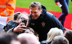 SOUTHAMPTON, ENGLAND - MAY 08: Ralph Hasenhuttl has photos with fans during a Southampton FC open training session at St Mary's Stadium on May 08, 2019 in Southampton, England. (Photo by James Bridle - Southampton FC/Southampton FC via Getty Images)
