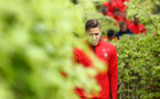 SOUTHAMPTON, ENGLAND - MAY 09: Jan Bednarek (right) during a Southampton FC training session pictured at Staplewood Training Ground on May 9, 2019 in Southampton, England. (Photo by James Bridle - Southampton FC/Southampton FC via Getty Images)