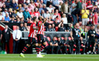 SOUTHAMPTON, ENGLAND - MAY 12: Nathan Redmond of Southampton celebrates his goal during the Premier League match between Southampton FC and Huddersfield Town at St Mary's Stadium on May 12, 2019 in Southampton, United Kingdom. (Photo by Matt Watson/Southampton FC via Getty Images)