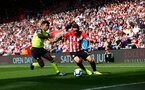 SOUTHAMPTON, ENGLAND - MAY 12: Danny Ings(R) of Southampton during the Premier League match between Southampton FC and Huddersfield Town at St Mary's Stadium on May 12, 2019 in Southampton, United Kingdom. (Photo by Matt Watson/Southampton FC via Getty Images)