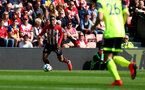 SOUTHAMPTON, ENGLAND - MAY 12: Yan Valery of during the Premier League match between Southampton FC and Huddersfield Town at St Mary's Stadium on May 12, 2019 in Southampton, United Kingdom. (Photo by Matt Watson/Southampton FC via Getty Images)
