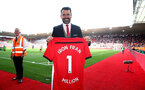 """SOUTHAMPTON, ENGLAND - MAY 12: Former Saints player Francis Benali after he completed his """"Iron Fran"""" challenge raising £1m for Cancer Research UK during the Premier League match between Southampton FC and Huddersfield Town at St Mary's Stadium on May 12, 2019 in Southampton, United Kingdom. (Photo by Matt Watson/Southampton FC via Getty Images)"""