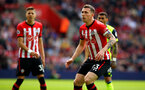SOUTHAMPTON, ENGLAND - MAY 12: Pierre-Emile Hojbjerg (right) during the Premier League match between Southampton FC and Huddersfield Town at St Mary's Stadium on May 12, 2019 in Southampton, United Kingdom. (Photo by James Bridle - Southampton FC/Southampton FC via Getty Images)