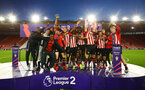 SOUTHAMPTON, ENGLAND - MAY 13: Southampton FC are promoted to Division one in the PL2 for the Play off final between Southampton and Newcastle United pictured at St. Mary's Stadium on May 13, 2019 in Southampton, England. (Photo by James Bridle - Southampton FC/Southampton FC via Getty Images)